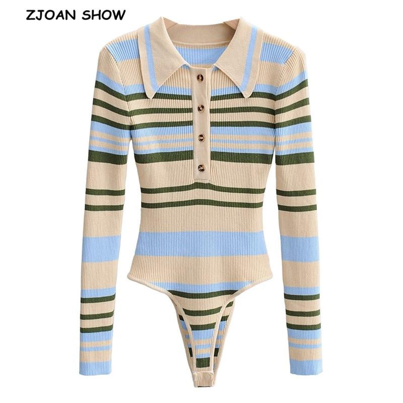 جمبسوت نسائي بأكمام طويلة ، بدلة مخططة عتيقة ، منسوجة بألوان متباينة ، طية صدر السترة ، بدلة قصيرة