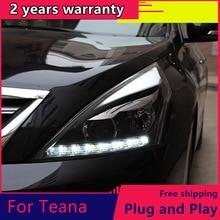 KOWELL Car Styling for Nissan Teana 2008-2012 led headlights signal led drl hid Bi-Xenon Lens low beam