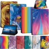watercolor pattern case for lenovo tab e10 10 1 tb x104f tb x104ltab m10 10 1 tab m10 fhd plus 10 3 tablet stand cover case