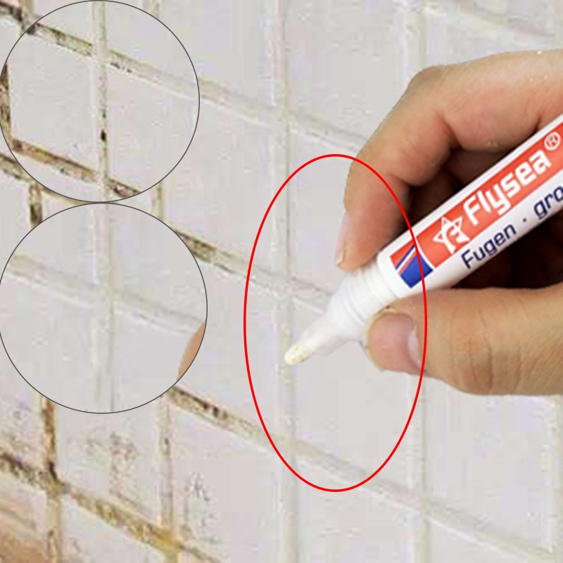1 pçs telha grout marcador reparação caneta telha recarga grout caneta à prova dwaterproof água mouldproof agentes de enchimento parede porcelana banheiro mais limpo