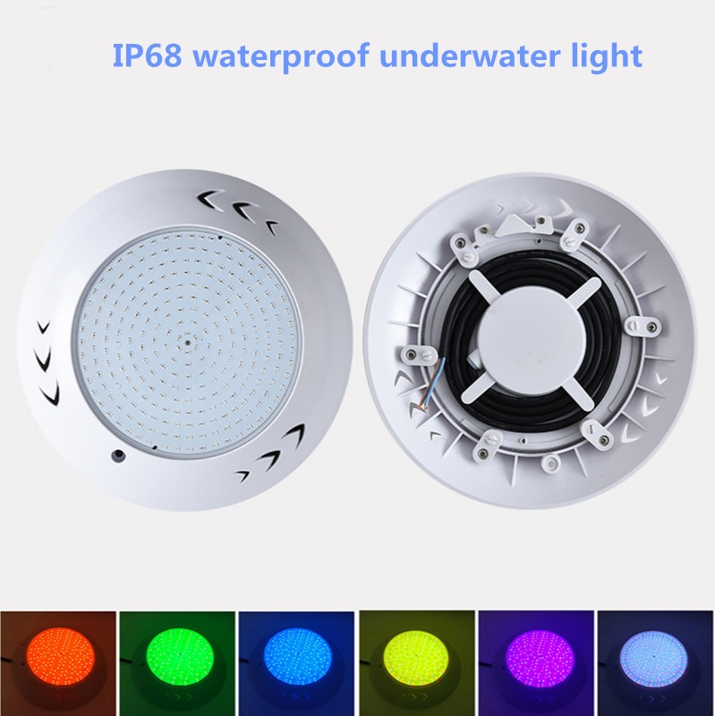 LED Resin Swimming Pool Lights IP68 Waterproof Underwater Light 12V Wall Mounted Lamp RGB Color Changeable Lights 35W 45W 54W