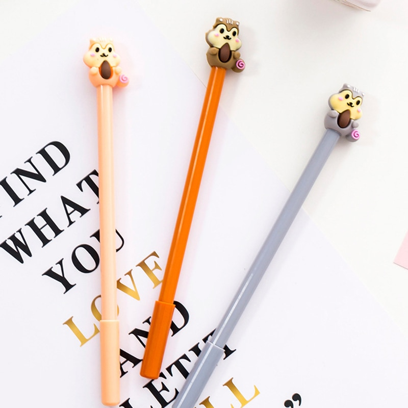 4 шт. гелевая ручка с психоделической лесной серией мультяшная МАЛЕНЬКАЯ БЕЛКА 0,5 мм шариковая ручка с черными чернилами Канцелярские Прина...