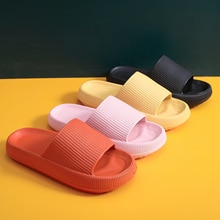 2021EVA Slippers Solid Color Thick Bottom Summer Couple Dropshipping Anti-Slip Sandal Men And Women