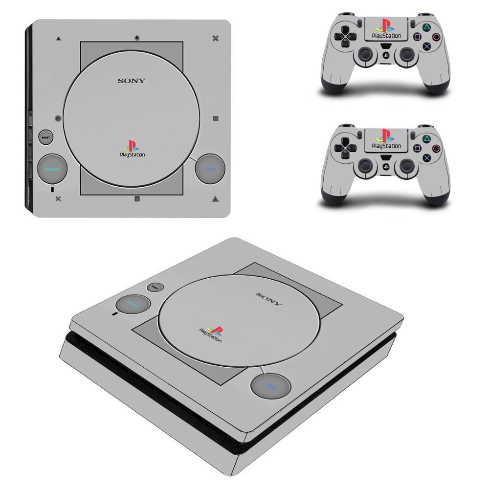 Estilo Cobertura Completa Faceplates PS1 PS4 4 Fino Decalque Adesivo de Pele Para PlayStation Console & Controlador PS4 Adesivo Fino