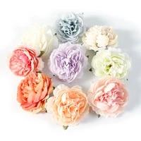 Tetes de fleurs artificielles pivoines  5 pieces lot  bricolage  couronne  bricolage  artisanat decoratif  fausses fleurs pour mariage  decoration de maison  noel