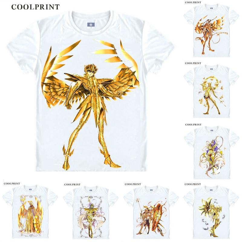 Futuro Saint Seiya sagrado Saga Pegasus Gemini Virgo Anime Cosplay camiseta tanque manga corta Camiseta Vintage moda