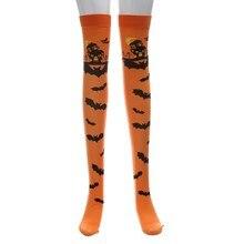 2020 Halloween Chaussettes Bas Halloween Imprimé Long Tube Genou Chaussettes Fantaisie Robe Fête Chaussettes lolita chaussettes чулки аниме 50 *