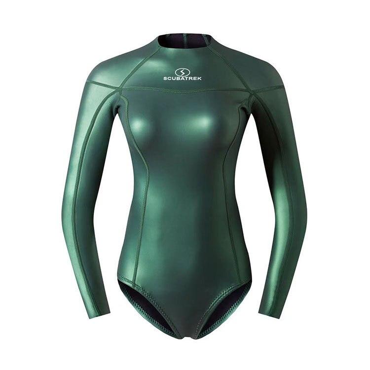 Women 2MM One Piece Neoprene Keep Warm Surfing Scuba Snorkeling Spearfishing Diving Suit UnderWater Hunting Triathlon SwimSuit