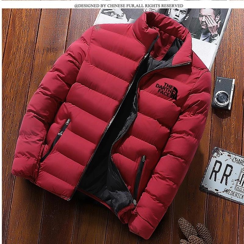 Зимняя мужская куртка 2021, модная мужская парка с воротником-стойкой, мужские однотонные толстые куртки и пальто, Мужская Зимняя парка