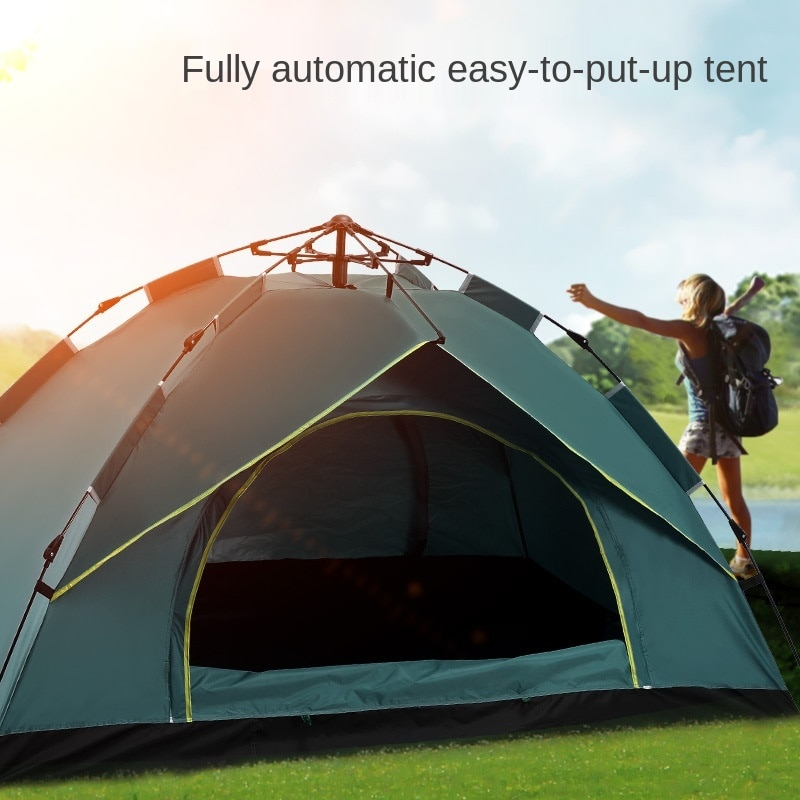 Cycling Outdoor Camping Tent 1-2 3-4People Automatic Tent Spring Speed Open Rain Protection and Sun Protection Camping Tent