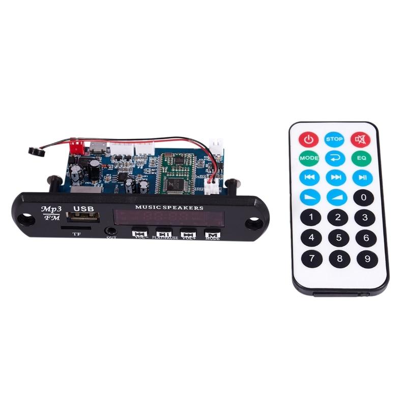 ABGN Bluetooth 4,0 estéreo APE FLAC WAV WMA MP3 módulo BT aplicación manos libres soporte auricular auxiliar Radio FM USB Decording Audi