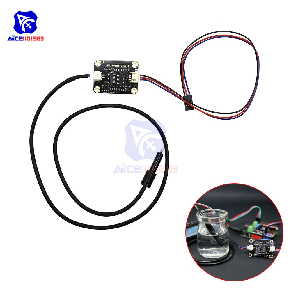 diymore TDS Meter Probe Water Quality Monitoring V1 Sensor Module with XH2.54-3Pin Jumper Wire Connector for Arduino