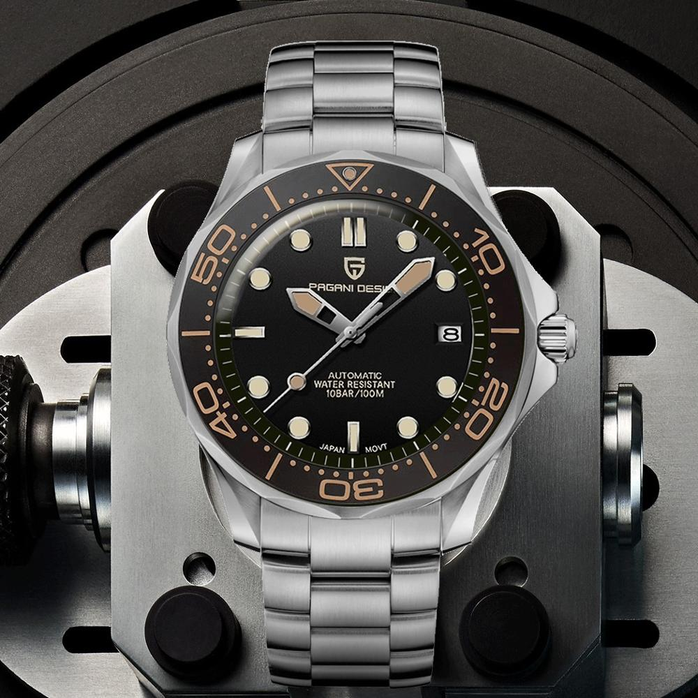 2021 New PAGANI DESIGN 007 Men's Mechanical Watches Brand Luxury Automatic Watch Men Waterproof Wristwatch Japan NH35 Clock man