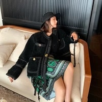 autumn women real winter coat jacket wool fur coats short korean oversize jackets vintage clothes 2020 c19f22482 kj3386
