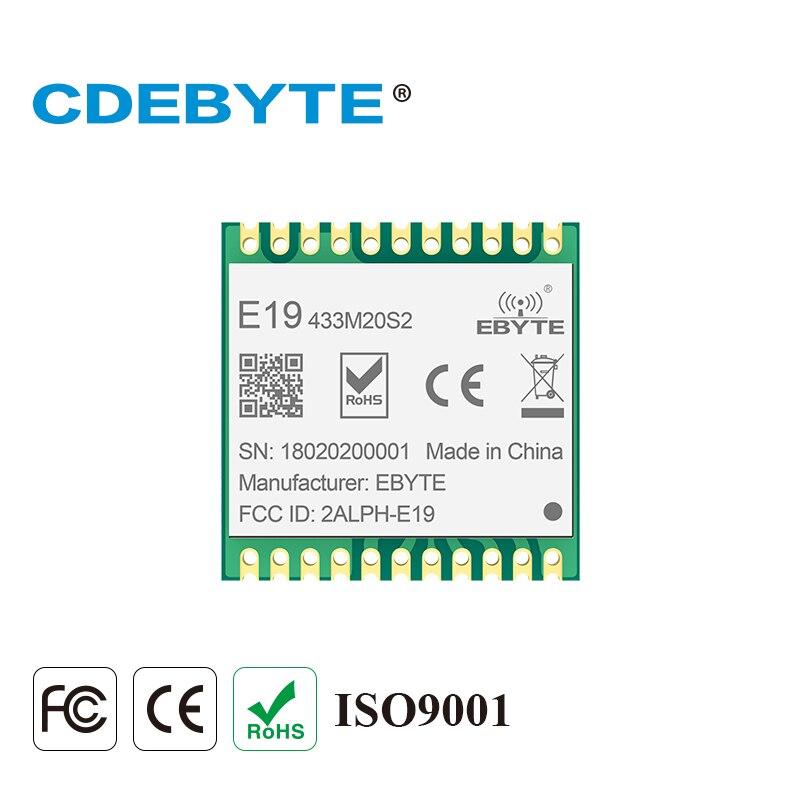 Ebyte E19-433M20S2 SX1278 LoRa 433dBm 20dBm 100mW IoT largo alcance SPI módulo rf Sub 1GHz pequeño tamaño LoRaTM transceptor inalámbrico
