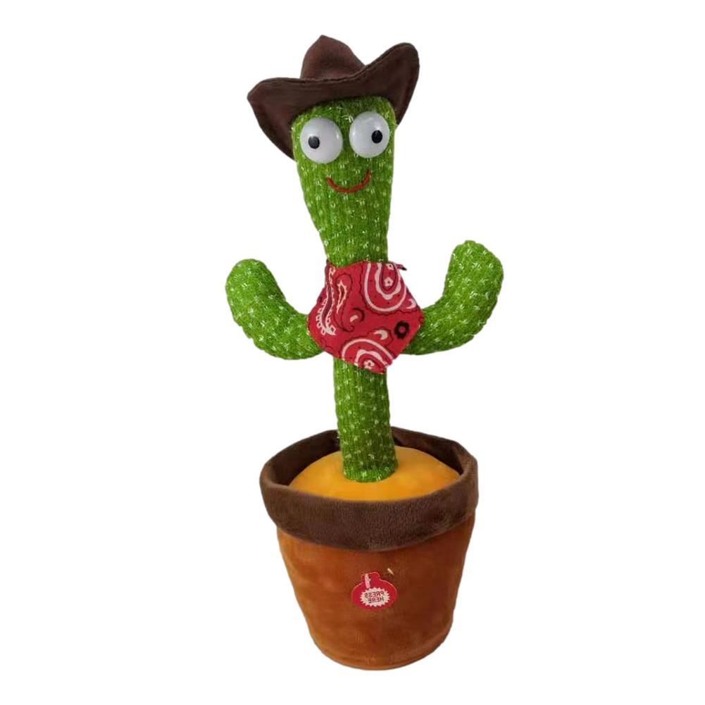 Новый 32 см кактус плюшевые игрушки Танцы пение электронный забавные милая игрушка-кактус электронный встряхните, мягкая плюшевая кукла, ук...