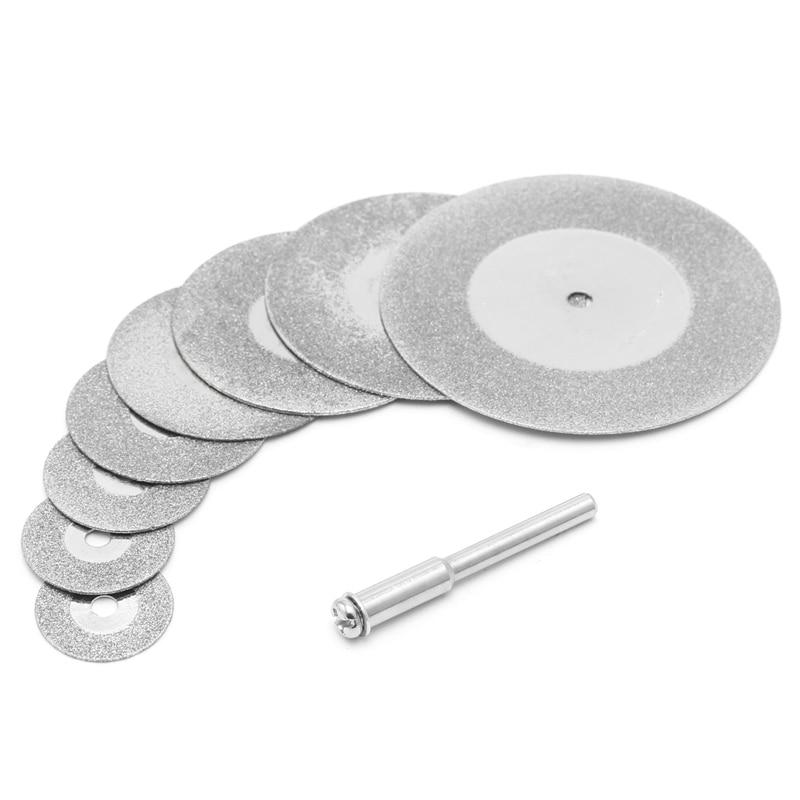 5 uds. Discos de corte Diamonte de 30mm y vástago de broca para hoja de herramienta rotativa