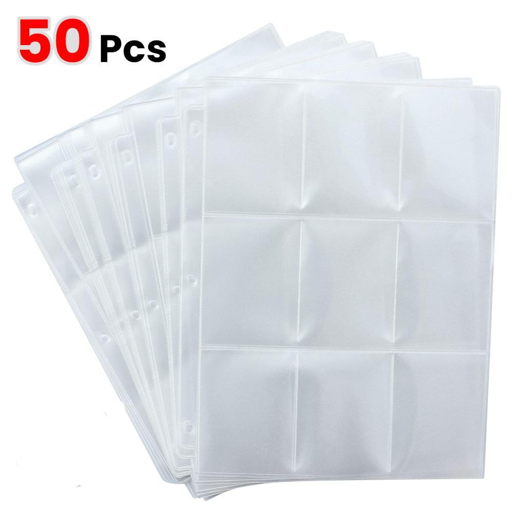 10/20/30/50pcs Game Card Sets Storage Wallet Album Page Collection Neutral Transparent Album Card Cover storage