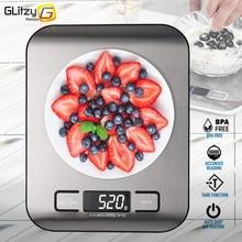 מטבח דיגיטלי 5kg/10kg מזון רב-פונקציה 304 נירוסטה איזון LCD תצוגת מדידת גרם אונקיות בישול אפייה