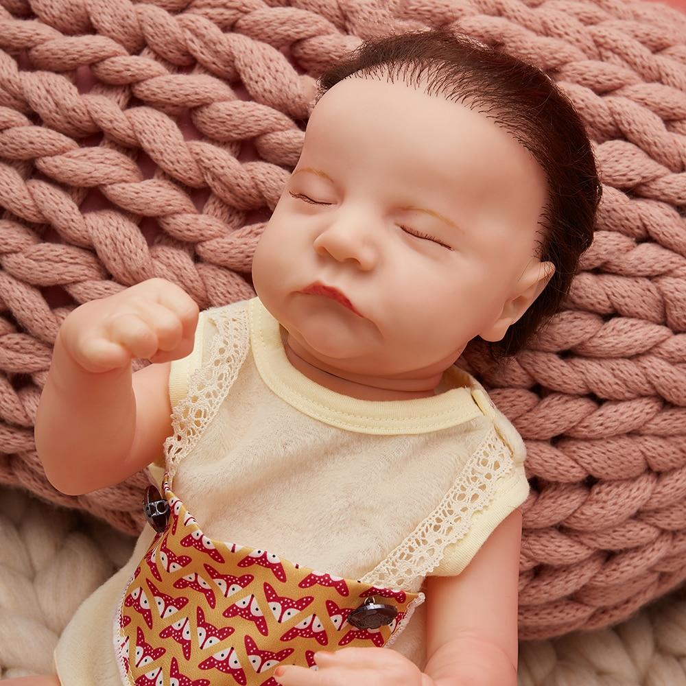 19 Inches Reborn Doll Baby 48cm  Lifelike Newborn Cute Sleeping Reborn Baby Doll Full Body Silicone Handmade Bonecas Dolls Toys baby emulated doll soft reborn baby dolls newborn silicone full body lifelike doll washable handmade open mouth