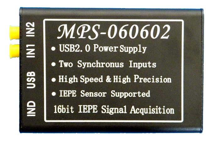 MPS-060602 dual channel 16-bit alta velocidad IEPE vibración ICP TARJETA DE ADQUISICIÓN USB