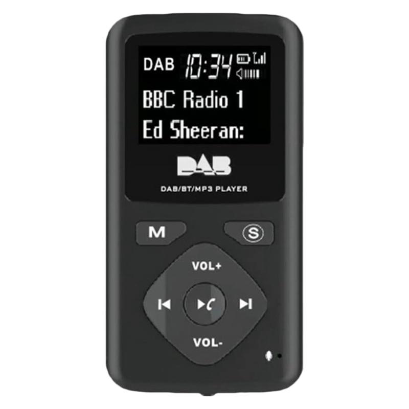 Цифровое радио DAB/DAB, Bluetooth 4,0, персональный карманный FM Мини Портативный радиоприемник, наушники MP3, Micro-USB для дома