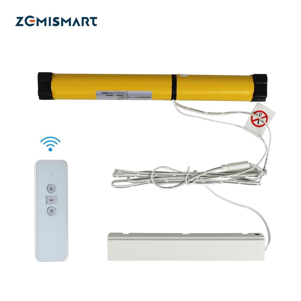 Zemismart-محرك كهربائي للستائر المطوية ، محرك مصراع بمحرك مع تحكم RF