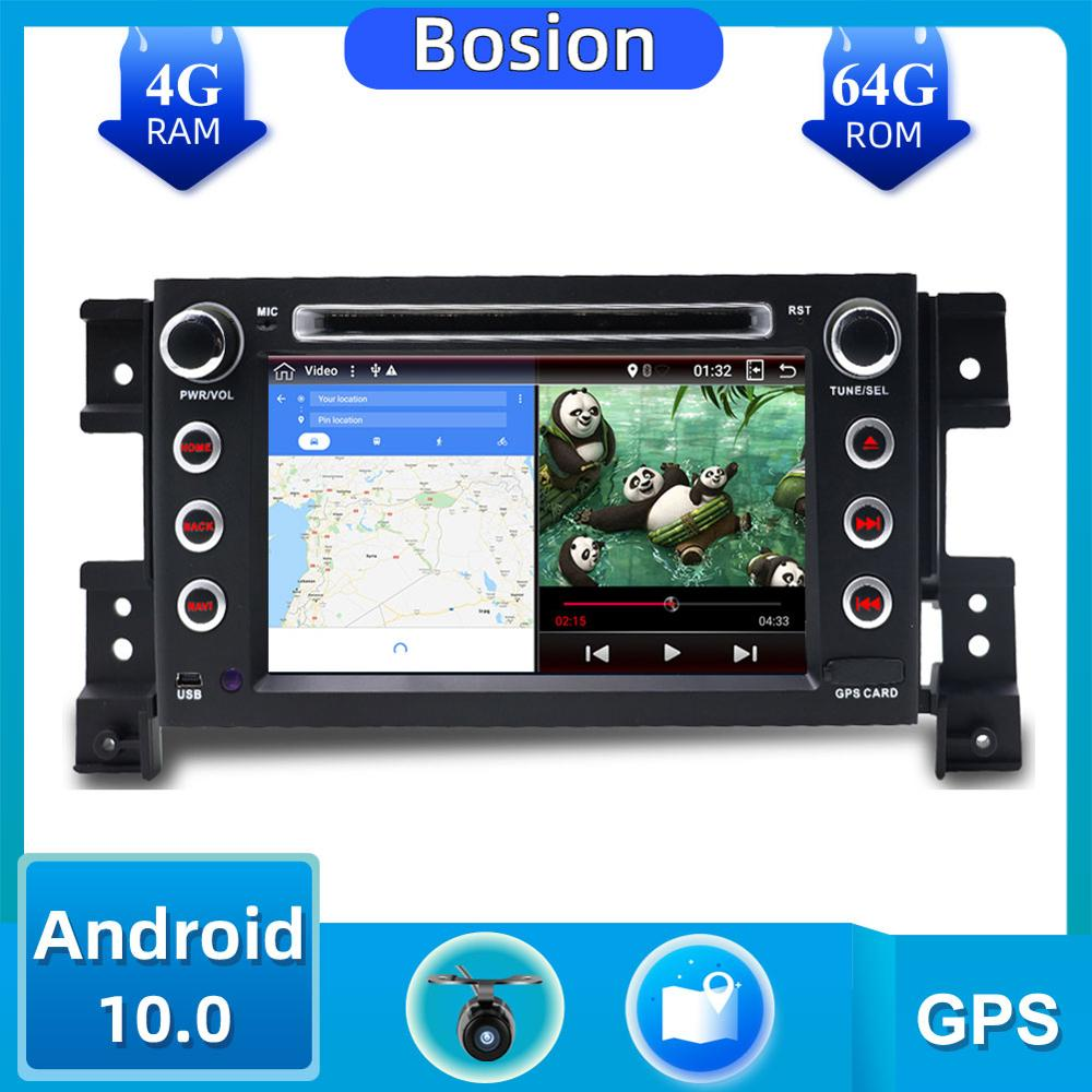 2Din PX6 Car DVD Player For Suzuki Grand Vitara 2005-2018 Android 10.0 GPS Navigation Bluetooth SWC Mirror Link 4G+64G ROM DAB