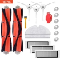 58161825pcs robot vacuum cleaner parts replacement kit for xiaomi robo2 s50 s51 main brush filters side brushes accessories