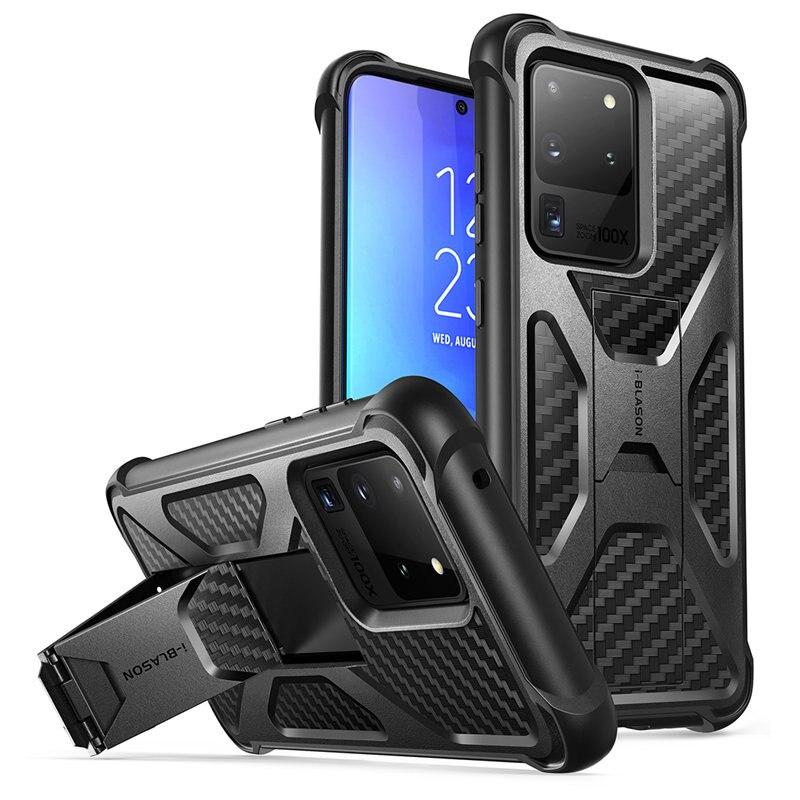 Для Samsung Galaxy S20 Ultra Case/S20 Ultra 5G Case i-Blason Transformer двухслойный прочный Чехол-бампер со встроенной подставкой