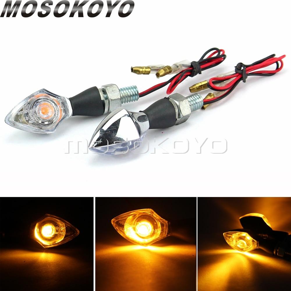 Carbono/chrome mini universal sinais de volta blinker motocicleta led indicador piscando luzes 8mm parafuso para yamaha kawasaki suzuki