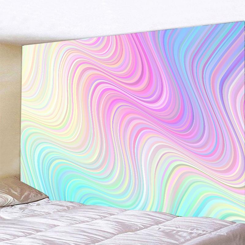Красивые 3D Psychedelic радужные мраморные настенные гобелены, настенные гобелены, настенные художественные декорации, гобелены для йоги, просты...