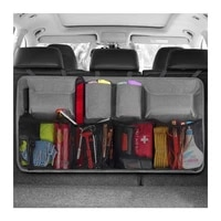 car trunk organizer super capacity car hanging organizer car trunk tidy storage bag with lids space saving expert black