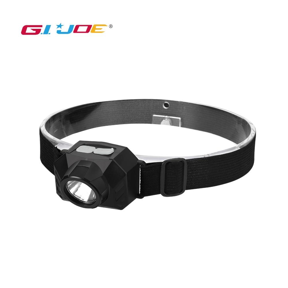 GIJOE Portable Mini LED Built-in Battery Headlamp USB Rechargeable Camping Head Lamp Fishing Headlight Flashlight Torch 3 Modes