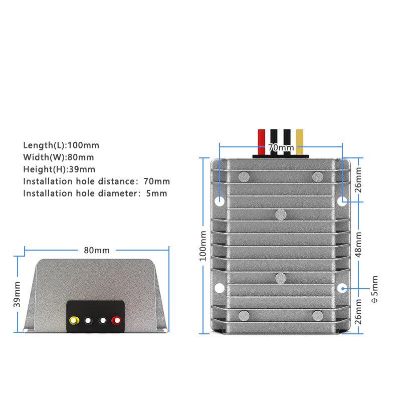 Купить с кэшбэком 18-36V to 24V DC power supply regulator 24V to 24V car automatic buck-boost converter waterproof CE RoHS