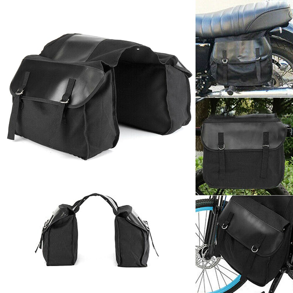 Motorbike Upgrade Touring Motorbike Saddle Bag Motorcycle Canvas Waterproof Panniers Box Side Tools Bag Pouch For Motorcycle