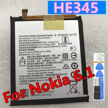 New Original 3060mAh HE345 Replacement Battery For Nokia 6 2nd Gen 2018 For Nokia 6.1 Mobile Phone B
