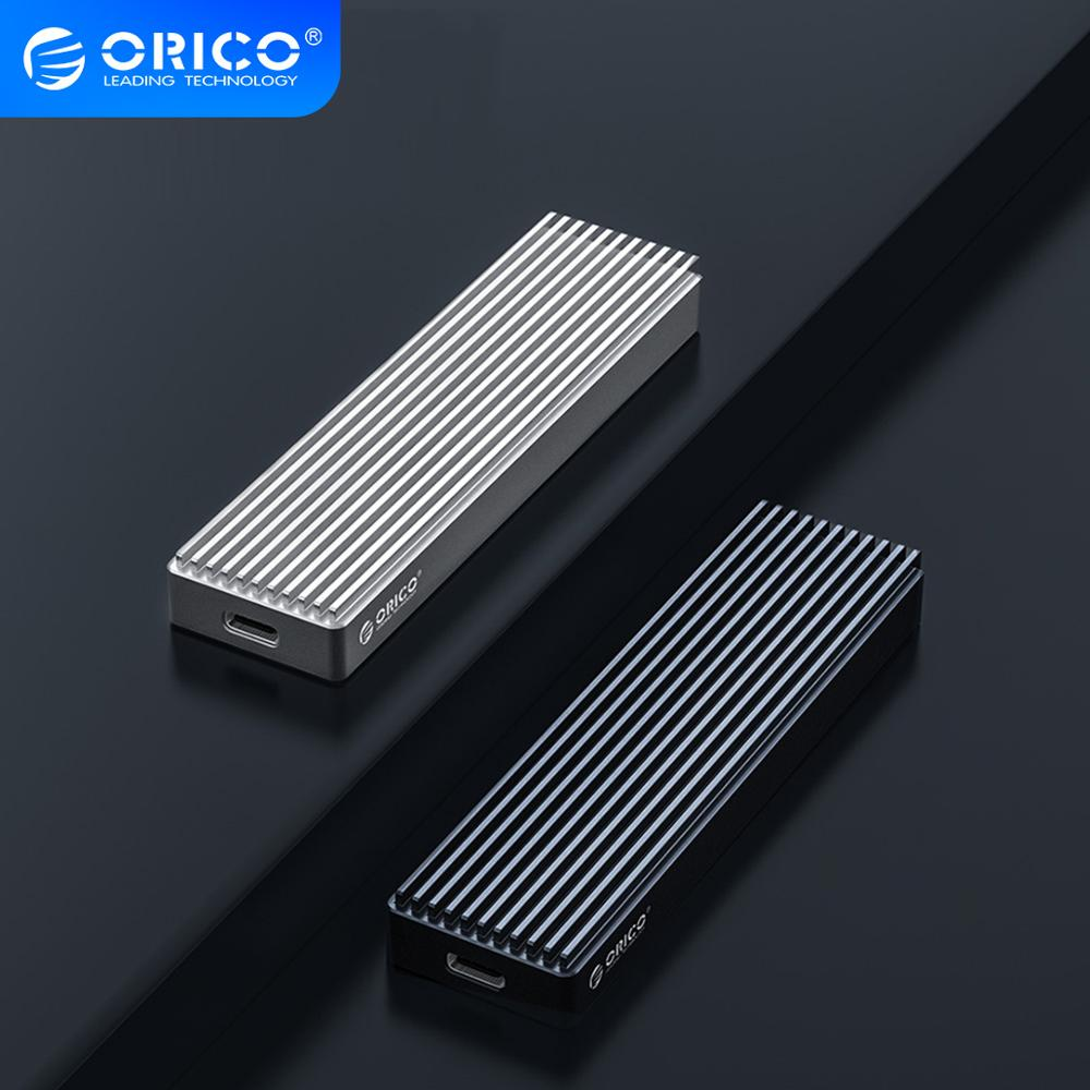 ORICO M2 NVME SSD Case for PCIE M Key M+B Key SSD Disk USB C 10Gbps Hard Drive Enclosure M.2 SATA SSD Box With Type C to C Cable