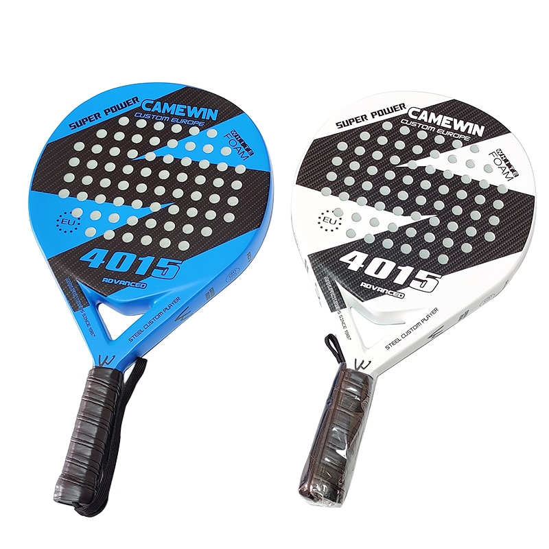 Camewin Professional Full Carbon Beach Tennis Paddle Racket Soft EVA Face Tennis Raqueta With Bag For