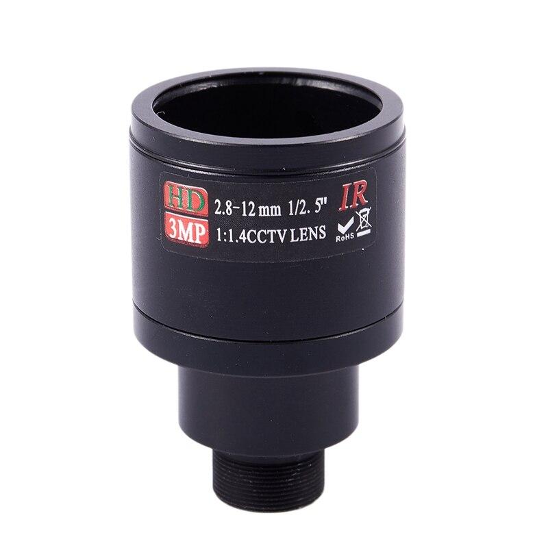 Lente CCTV HD 3.0MP M12 2.8-12mm Varifocal cctv IR Lente HD, F1.4, foco manual zoom