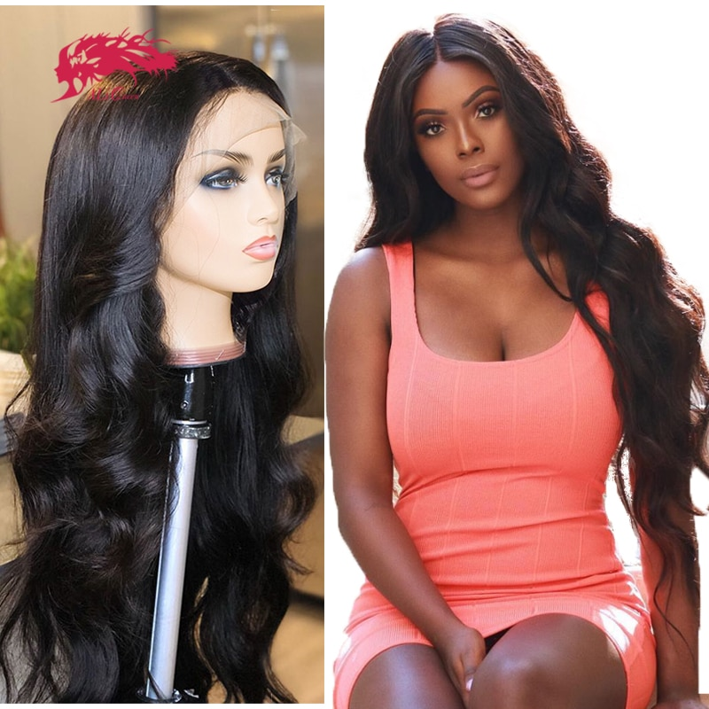 """Body Wave 13x4 HD Transparent Lace Frontal Wig With Pre Plucked Hairline 10"""" - 30"""" Brazilian Remy Lace Frontal Custom Wig"""
