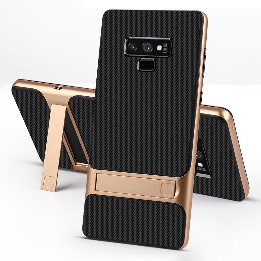 Силиконовый чехол-подставка для мобильного телефона samsung Galaxy Note 9, ударопрочный чехол 360, Защитный 3D Гибридный ПК Note9, Fundas, чехол
