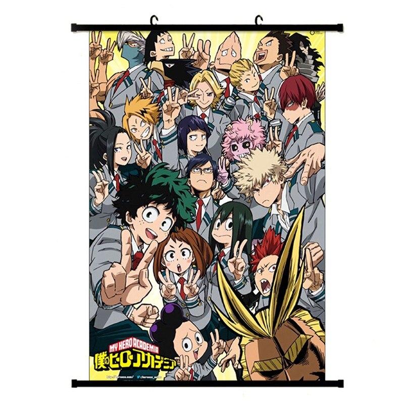 Anime japonês boku nenhum herói academia meu herói coletivo parede rolagem pintura cartaz cosplay sala de estar quarto adesivos