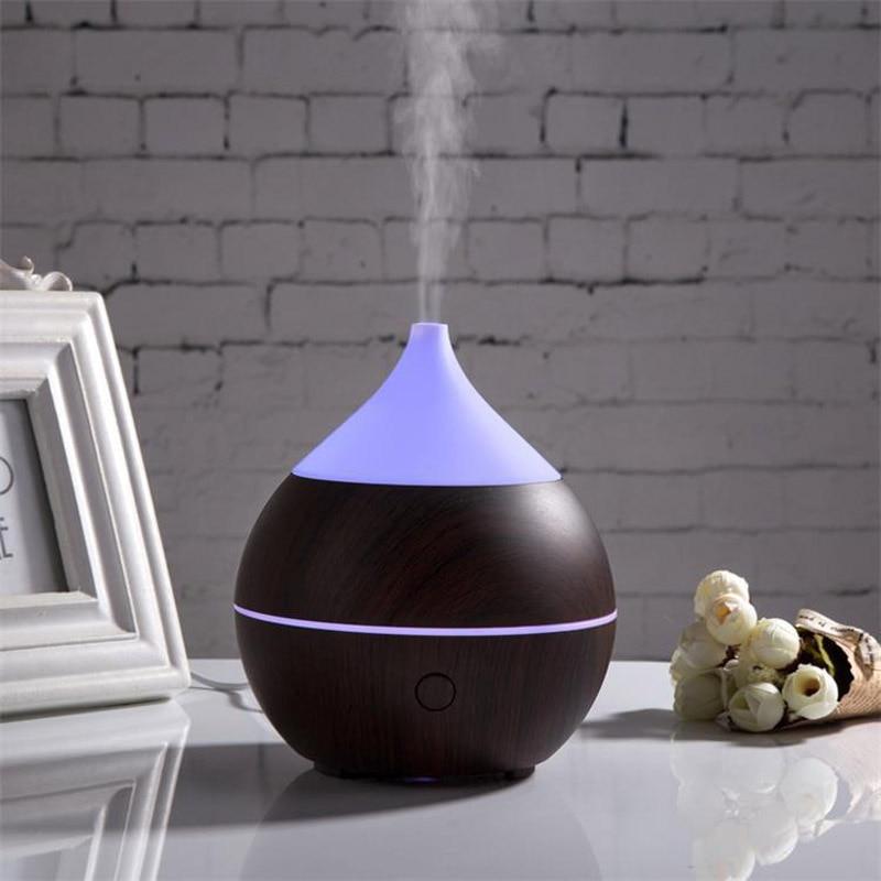 All in One Bluetooth Speaker Smart Oil Diffuser Night Light  Mist Ultrasonic Humidifier Wood Grain and Waterless Auto Shut-off