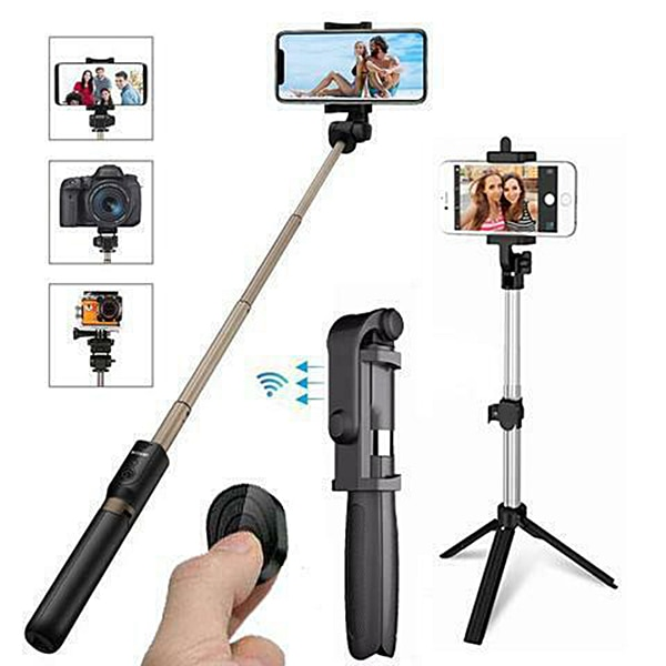 4 In 1 Wireless Bluetooth Selfie Stick with Remote Control for iPhone Samsung Huawei NC99
