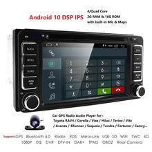 2G+16G Android 10.0 Universal Car GPS Navigation For Toyota Camry RAV4 Hilux EchoTundra  Rush Auris DVR  SWC MAP BT WIFI 4G  ECT