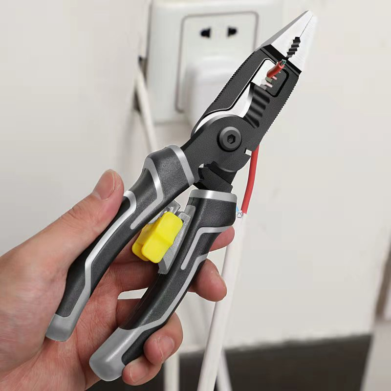 Multifunctional six-in-one electricians pliers needle-nose wire stripping artifact special crimping str