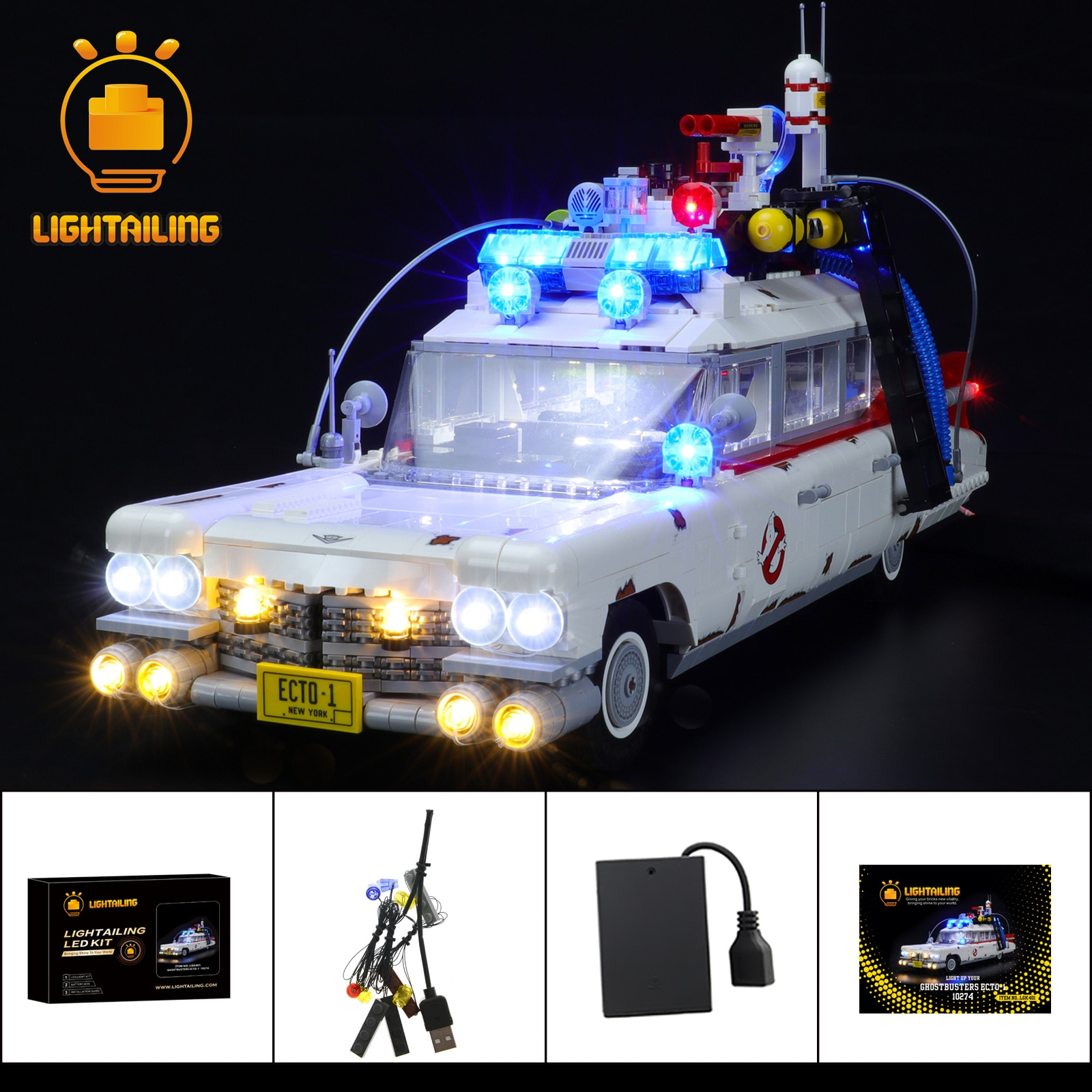 Фото - LIGHTAILING LED Light Kit For 10274 Ghost Busters ECTO-1 ,Not Inlcude The Block Model printio лонгслив ghost busters