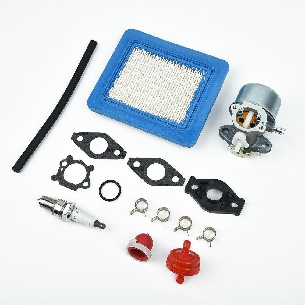Carburador + kit gaxeta 214570 497586 499059 799869 792253 filtro de ar kits cortador grama conjunto reparo doméstico filtro combustível primer bulbo