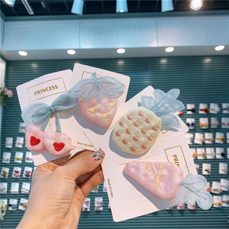 2020 primavera nuevo creativo coreano tela adorable fruta vegetal pico Clip moda dulce niña princesa horquillas accesorios para el cabello